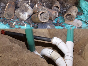 Replacing Old Clay Basement Drain Piping